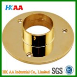 Heavy Duty Polished Brass Floor / Ceiling Flange